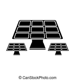 solar panels energy environment symbol pictogram vector...