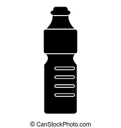 plastic bottle water mineral recycling pictogram