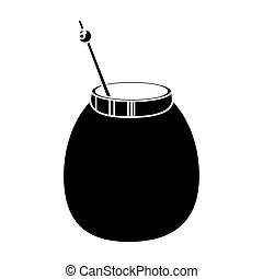 mate tea calabash herb pictogram vector illustration eps 10