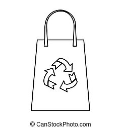 bag market package recycle thin line vector illustration eps...