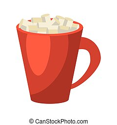 americano coffee cup cream vector illustration eps 10
