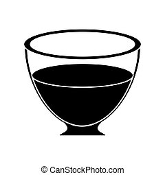 glass cup tea fresh pictogram vector illustration eps 10