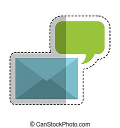 envelope mail with speech bubble icon