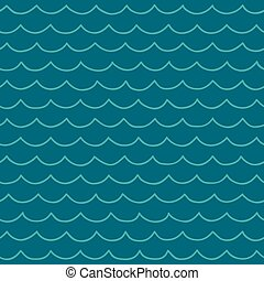 seamless cartoon sea pattern