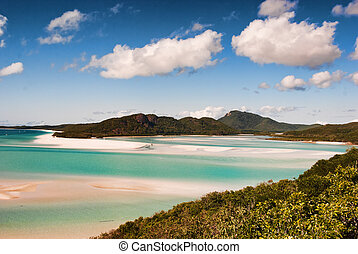 Whitehaven Beach, Australia - Whitehaven Beach in the...