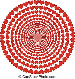circular pattern of hearts, Valentine's day, hearts are...