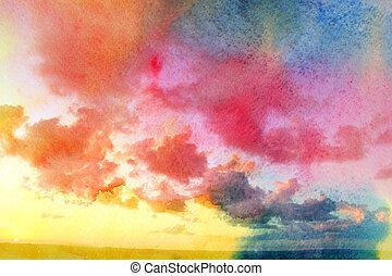 Photo beautiful sunset sky