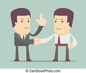 Business people shaking hands. Businessmen making a deal,...