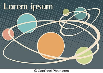 scientific background Lorem ipsum. Vintage pop art retro...