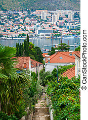 residential district of Dubrovnik - view of the residential...