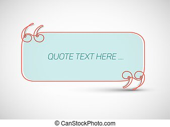 Quote template with place for your quotation