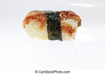 Piece of Sushi - A photo of a piece of sushi.