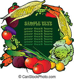 Vegetables - Frame of the different vegetables Sample text...