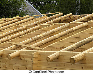 Timber house roof