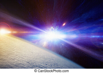 Catastrophic stellar explosion of supernova - Abstract...