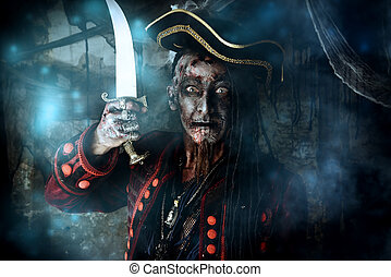 carnival on halloween - Pirate a drowned man, Hellraiser....