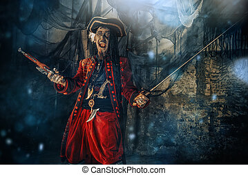 dashing buccaneer - Pirate a drowned man, Hellraiser....