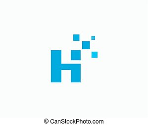 Abstract letter H logo design template ,technology , app vector symbol icon.