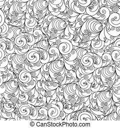 Seamless floral pattern - Seamless floral black and white...