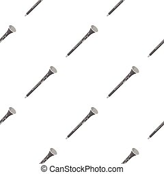 Oboe icon in cartoon style isolated on white background....