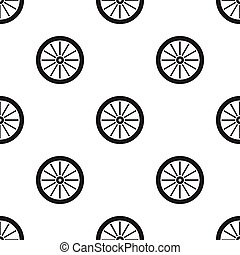 Cart-wheel icon black. Singe western icon from the wild west...