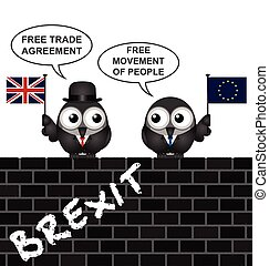 UK Brexit Trade Agreement - Comical United Kingdom Brexit...