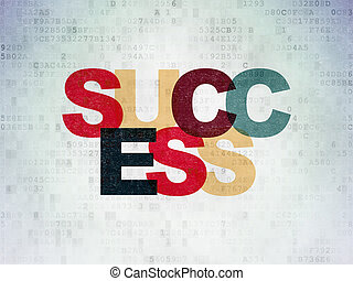Business concept: Success on Digital Data Paper background -...