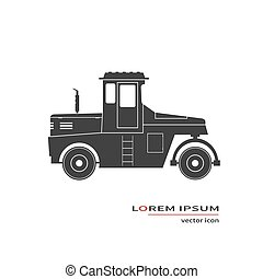 Road roller icon isolated on background. Vector...