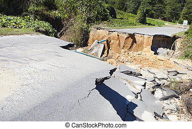 Hurricane Matthew damage - Road and pipes washed out after...