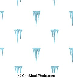 Icicles icon in cartoon style isolated on white background....