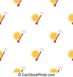 Heat icon in cartoon style isolated on white background....