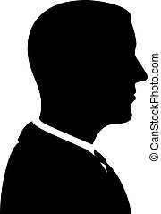 Man Silhouette Profile View