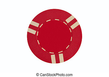 One Red Chip - One customizable red casino style gaming chip...