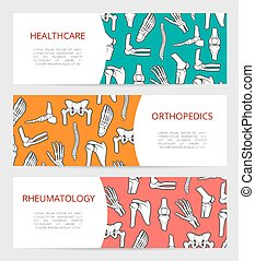 Orthopedics, rheumatology clinic banner template