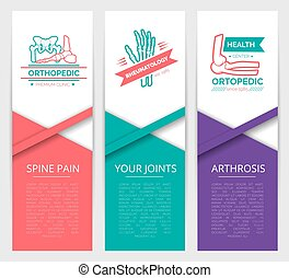 Medical diagnostic clinic banner template design