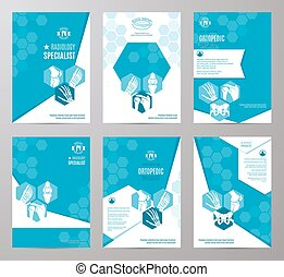 Orthopedics and radiology medicine card template -...