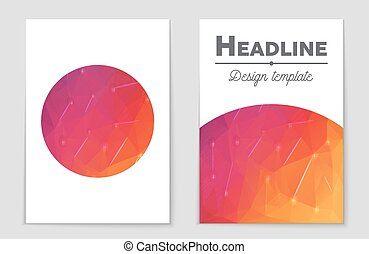 Abstract vector layout background set. For art template...