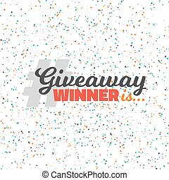Glittering Confetti Giveaway Competition - Illustration of...