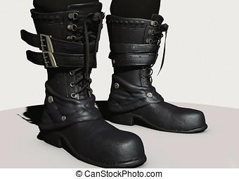 3d gotic boots