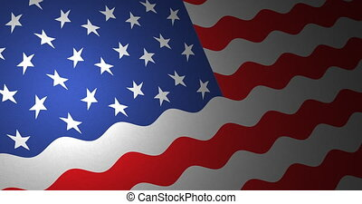 American flag with small ripples - American flag of the...