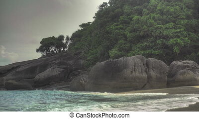 Beach of Similan Island - Tropical island sand beach, Ko...