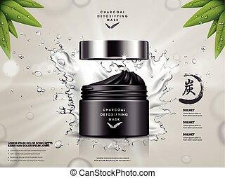 charcoal detoxifying mask ad - charcoal detoxifying mask...