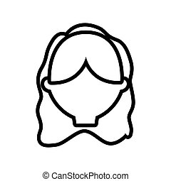 figure casual woman formal face icon