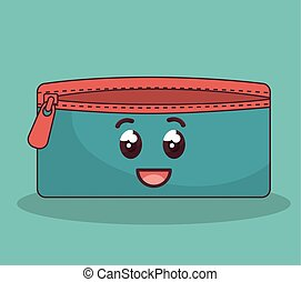 pencil case character icon vector illustration design