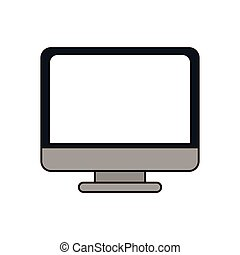 work computer image design, vector illustration icon