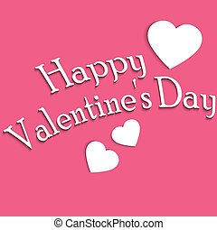 Caption greetings Happy Valentine's Day on pink background...
