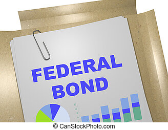 Federal Bond - business concept - 3D illustration of...