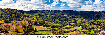 Panoramic View of Orvieto in Italy - A wide panoramic view...