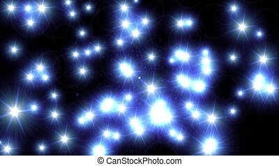 Lens flare sparkling glowing twinkle star lights glow...