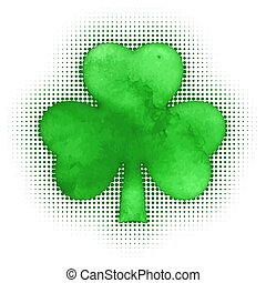 Happy St. Patricks day Shamrock grunge, vector illustration